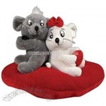 Plush valentine mice