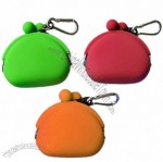 Pochibi Silicone Change Purse with Carabiner