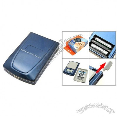 Pocket Portable 500 x 0.1 Digital Scale with Solar Power Calculator
