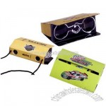 Pocket Size 3x Power Folding Paper Binoculars With Custom Decal
