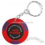 Poker Chips Red Key Chain