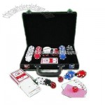 Poker Set with Black Leather Box
