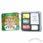 Poker chip in tin Texas Hold'Em set