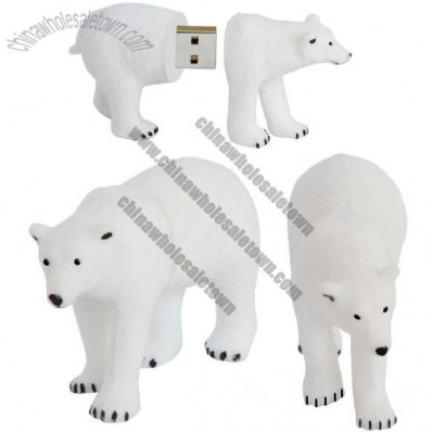 Polar Bear USB Flash Drive Memory Stick