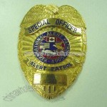 Police Badge Available with Pin or Screw at the Back