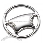 Polished Silver Steering Wheel Key Ring