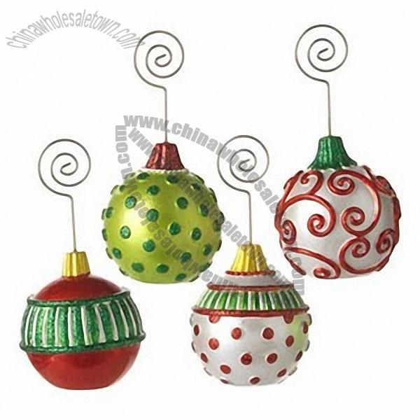 Polka Dot Christmas Ornament Place Card Holders Suppliers, China ...