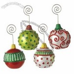 Polka Dot Christmas Ornament Place Card Holders