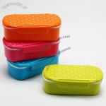 Polka Dot Plastic Meal Box