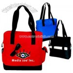Polyester 600 Denier Zippered Tote Bag