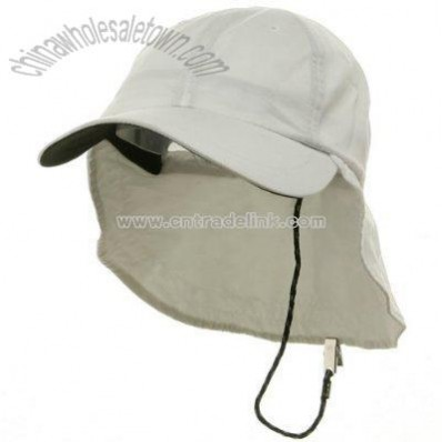 Polyester Flap Hats-White
