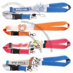 Polyester Lanyard with Silicone Logo