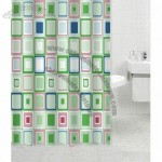 Polyester Shower Curtain with 12hooks