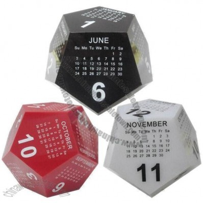 Polygon Acrylic Desk Calendar