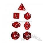 Polyhedral 7-Die Translucent Dice Set - Red