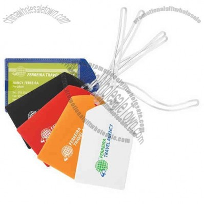 Polypropylene luggage tag with a transparent card slot on front
