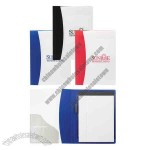 Polypropylene padfolio with white cover and 6 1/2