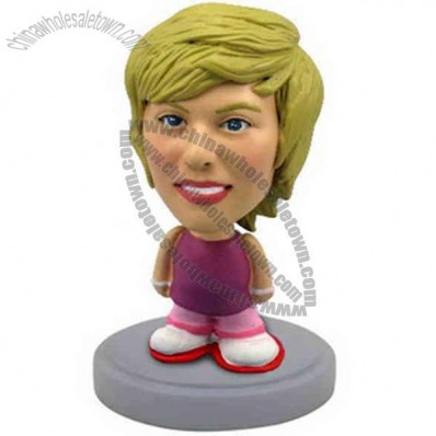Polyresin Casual Female Bobblehead