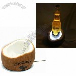 Polyresin Coconut Shaped Bottle Glorifier LED Base with Desk Mounting
