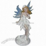 Polyresin Fairy Decoration with Hand-painted Design