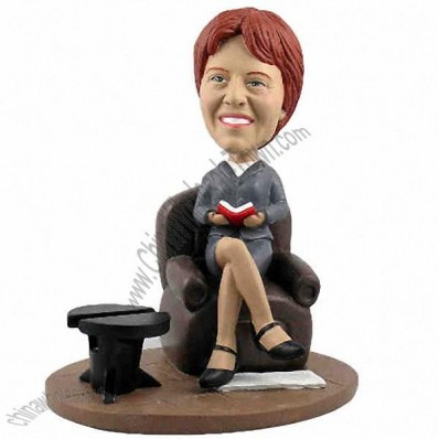 Polyresin Female Executive In Seat Bobblehead