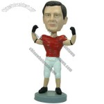 Polyresin Football Player In Uniform Bobblehead