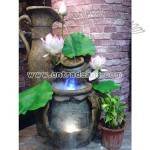 Polyresin Fountain with Teapot