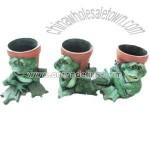 Polyresin Frog Flower Pot and Animal Planter