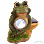 Polyresin Frog Solar Light