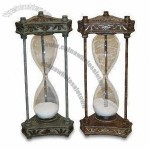 Polyresin Hourglass with Antique Finish