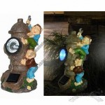 Polyresin Hydrant Design Solar Garden Lights