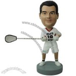 Polyresin Lacrosse Player Bobblehead