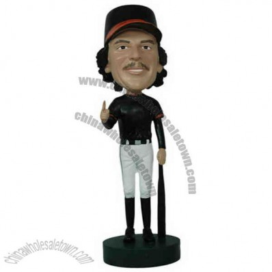 Polyresin Number 1 Baseball Player Bobblehead