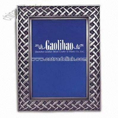 Polyresin Photo Frame with E-plated Color