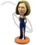 Polyresin Woman In Formal Wear Bobblehead