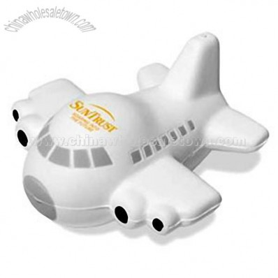 Polyurethane airplane shape stress reliever