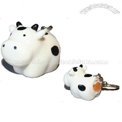 Pooping Cow Poopin Naughty Keychain