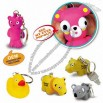 Poppin Peepers Animals Pop-out Eyes Key Chain