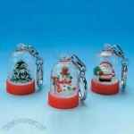 Popular Christmas Snowball Shaped Keychains