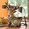 Popular Deer Shaped Resin Corded Telephones