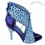 Popular Lady/Women's High Heel Dress Sandals, Newly Pony Hair/Pat Leather Vamp, Leather Bottom