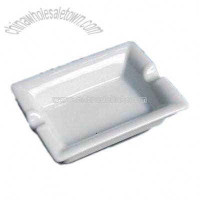 Porcelain Ashtray in Pure White Color