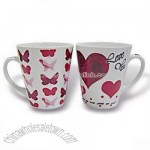 Porcelain Mug with Heart Decal