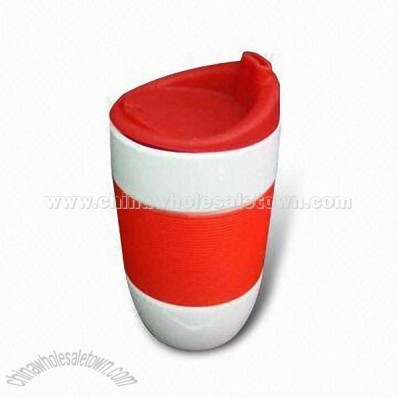Porcelain Mug with Silicone Lid
