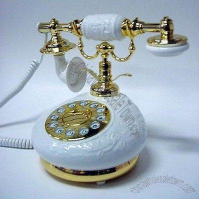 Porcelain Plain White Telephone