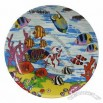 Porcelain Plate, Caribbean Decal Design