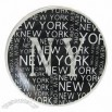 Porcelain Plate, New York Decal Design