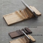 Portable Concrete & Wooden Cell Phone Holder