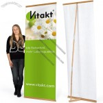 Portable Easy L Bamboo Banner Stand