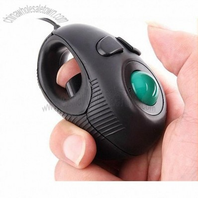Portable Finger Hand Held 4D Usb Mini Trackball Mouse